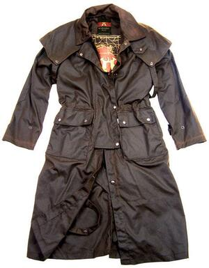 Traditional Drover Coat - brun