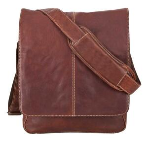 Kansas Messenger Bag - Brandy