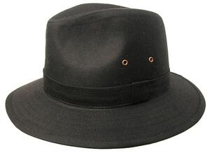 Griffin - sort oilskin hat