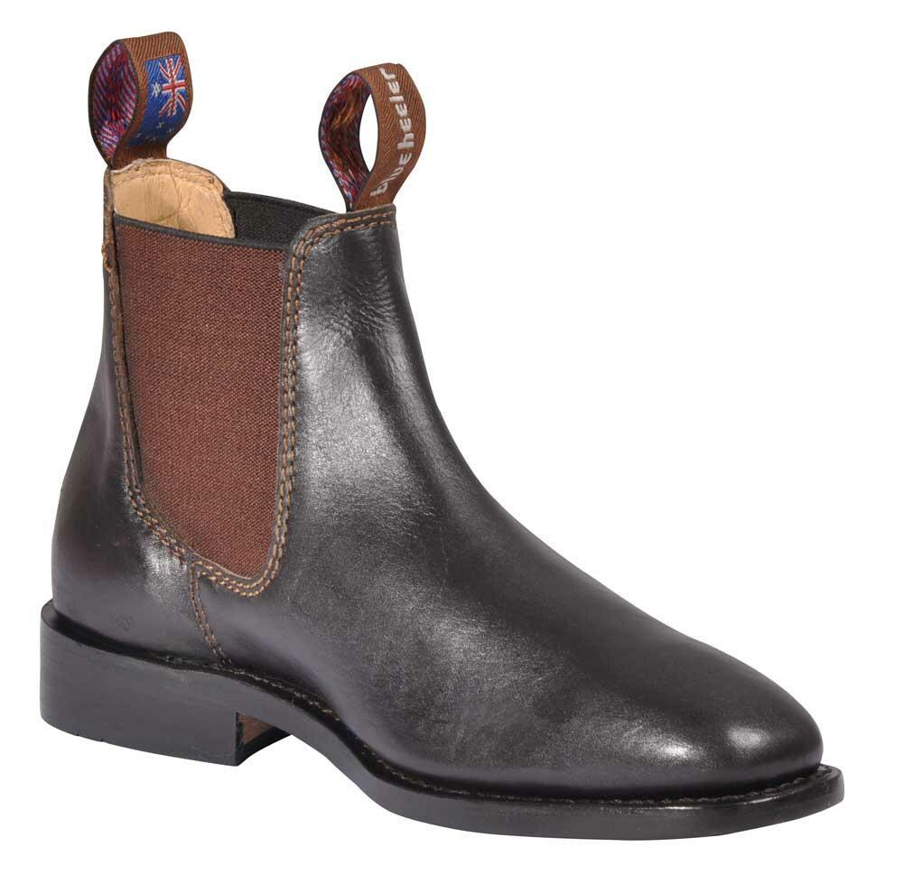 f7229e14ced7 Brune chelsea boots fra Blue Heeler - populære boots med elastikside