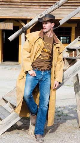 Cowboy - Tombstone hat og Canvas Riding Coat
