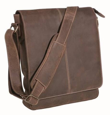 Kansas Messenger Bag - Brun nubuck