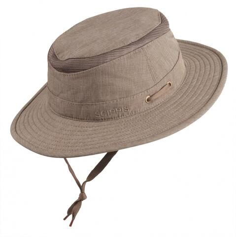 Hudson canvas hat - brun