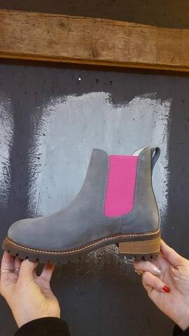 Pash - Grey-Pink boots