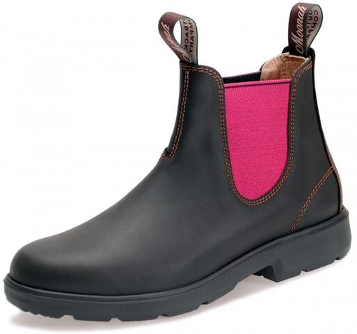 Moonah Lights Dark Brown / Pink boots