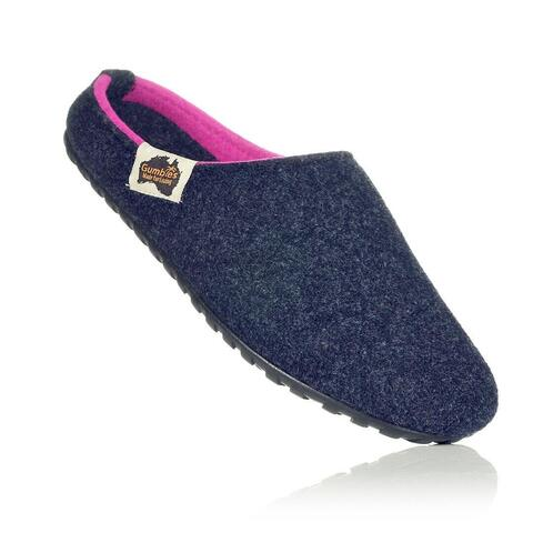 Outback Slipper - Navy & Pink