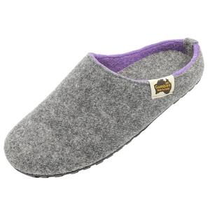 Outback Slipper - Grey & Lilac